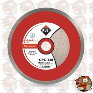 CPC230 PRO Ref.30958 Tarcza diamentowa do gresu porcelanowego, obrzeże ciągłe Rubi CPC 230 PRO