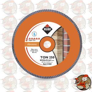 TON250 SUPERPRO Ref.31909 Tarcza diamentowa do materiałów ściernych, obrzeże Turbo Rubi TON...