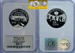 10 zł, 60 rocznica II wojny światowej PR70 - 2848444404