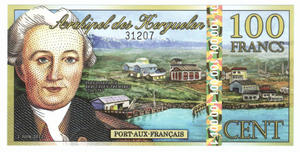 100 francs, Wyspy Kerguelena, polimer, 2012 - 2848445705