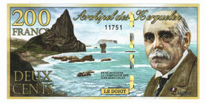 200 francs, Wyspy Kerguelena, polimer, 2012 - 2848445706