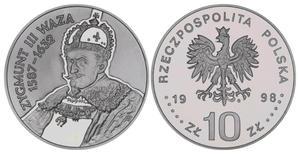 10 zł, Zygmunt III Waza - popiersie - 2848444450