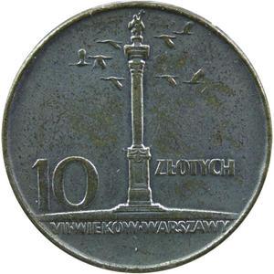10 zł, Kolumna Zygmunta (Mała kolumna), 1966 rok, stan 2- - 2852532018