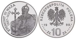 10 zł, Zygmunt III Waza - półpostać - 2848444459