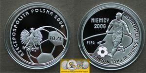 10 zł, Mistrzostwa Świata w piłce Niemcy 2006 efekt kÄ towy - 2848444469