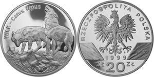 20 zł, Wilk (łac. Canis lupus), Wilki - 2848444539
