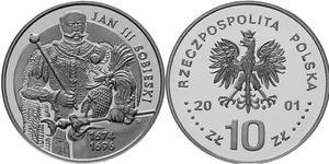 10 zł, Jan III Sobieski - półpostać - 2848444362