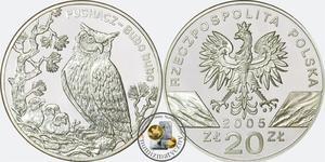 20 zł, Puchacz - zwierzęta świata - 2848444370