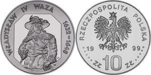 10 zł, Władysław IV Waza - półpostać - 2848444623
