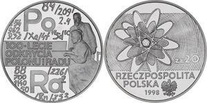 20 zł, 100-lecie odkrycia polonu i radu - 2848444652