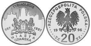 20 zł, TysiÄ clecie miasta Gdańska - 2848444679
