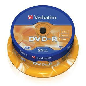 Płyty DVD-R VERBATIM 43522 4.7GB 16x - Cake Box - 25szt. - 2823369870