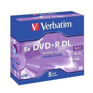 Płyty Verbatim DVD+R DL 8.5GB 8x - Jewel Case - 5szt. - Matt Silver - 2823369839