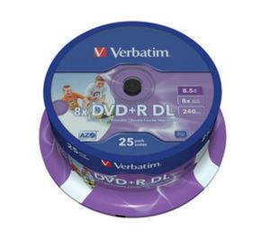 Płyty Verbatim DVD+R DL 8.5GB 8x - Spindle - 25szt. - Do Nadruku - 2823369844