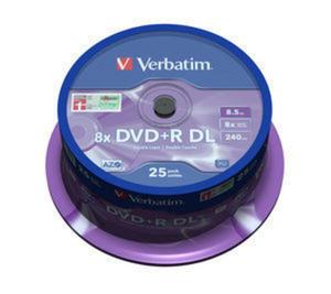 Płyty Verbatim DVD+R DL 8,5GB 8x - Spindle - 25szt.- Matt Silver - 2823369848