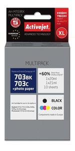 Zestaw tuszy AH-M703RX Czarny + Kolor do drukarek HP (Zamiennik HP 703 / CD887AE / CD888AE) - 2 szt. - 2823359149