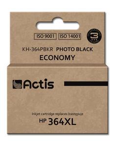 Tusz Actis KH-364PBKR (do drukarki Hewlett Packard, zamiennik HP 364XL CB322EE standard 12ml foto czarny Chip) - 2855862546