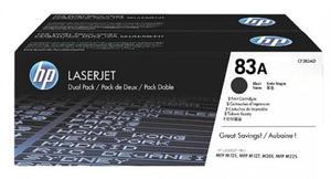 Zestaw tonerów HP 83A / CF283AD Czarny do drukarek (Oryginalny) [2x1.5k] - 2855862553