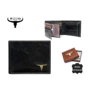 c32d56612a3e1 Mały Portfel męski skórzany Buffalo WILD RM-05 Czarny - 2861823224