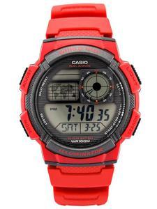 CASIO AE-1000W 4AV - Czerwony - 2848462789