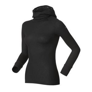 KOSZULKA ODLO TECH. SHIRT L/S WITH FACEMASK WARM BLACK 13/14, Kolor - Czarny, Rozmiar - L - 1493106778