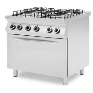 Kuchnia gazowa 4-palnikowa z konwekcyjnym piekarnikiem gazowym GN 1/1 - kod 226445 - 2845927360