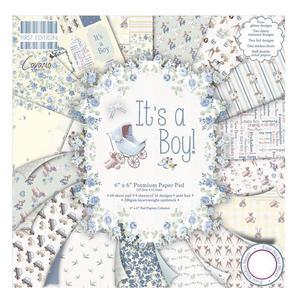 Zestaw papierów do scrapbookingu, It's a Boy, 15x15 cm, 200g/m2, 64 szt. [59-101-000] - 2878577228