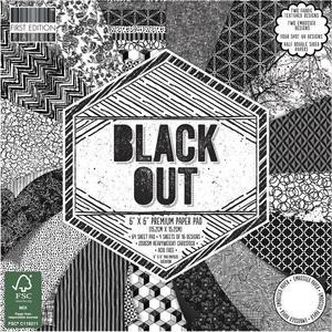 Zestaw papierów do scrapbookingu, Black Out, 15x15 cm, 64 szt. [60-643-000] - 2878577351