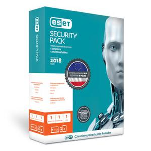 Przedłużenie licencji ESET Security Pack 1+1 na 3 lata (1 komputer + 1 smartfon) - 2858401802