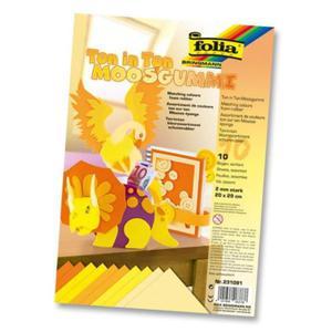 Arkusze Piankowe 20x29cm Mix Żółty 10ark - 2843325507
