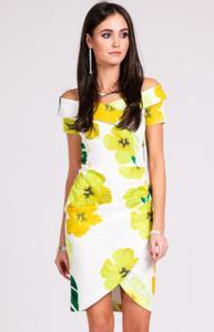 2ba40617e3 Ołówkowa sukienka w kwiaty Roco żółte kwiaty 248 - 2883865902