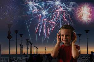 Słuchawki ochronne nauszniki dla dzieci ok 1-12lat - pomarańcz - 2853347331