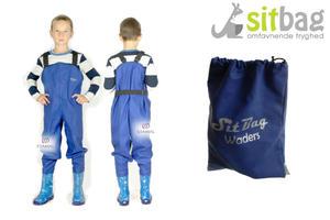 Wodery Spodniobuty Kalosze dla dzieci Sitbag - niebieski - 2850925455