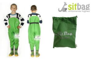 Wodery Spodniobuty Kalosze dla dzieci Sitbag - zielony - 2850925456