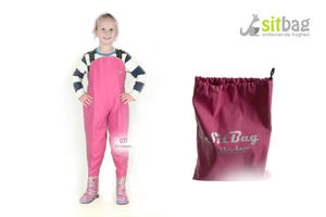 Wodery Spodniobuty Kalosze dla dzieci Sitbag - różowy - 2850925457