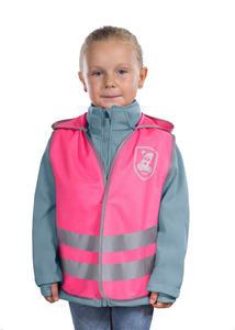 Kamizelka odblaskowa, XS, dla dzieci 2 lata+, REER - różowy - 2836910874