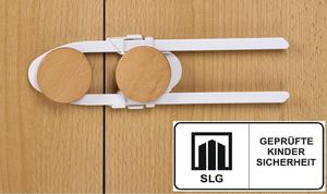 Zabezpieczenie szafek długie, białe, REER - biała - 2832973923