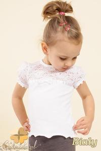 c61bbd71da6550 MA017 Śliczna dziecięca bluzka z bufkami - biała - 2832070338