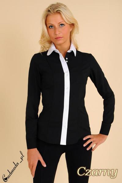 CM0005 Klasyczna, dwukolorowa damska koszula wieczorowa
