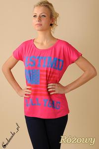 CM0100 Koszulka bluzka nietoperz flaga USA - różowa - 2832070717