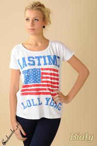 CM0100 Koszulka bluzka nietoperz flaga USA wszystkie - 2832070719