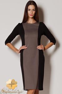 CM0420 FIGL M228 Ołówkowa dwukolorowa sukienka - 2832071302