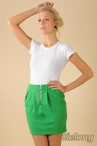 CM0066 Mini spódnica spódniczka ołówkowa tulipan - zielona - 2832069515