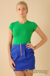 CM0066 Mini spódnica spódniczka ołówkowa tulipan - chabrowa - 2832069517