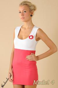 CM0095 Tunika sukienka mini + przypinka gratis