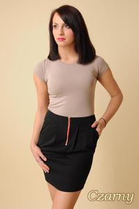 CM0066 Mini spódnica spódniczka ołówkowa tulipan - czarna - 2832069553