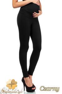 CM2235 Ciążowe spodnie legginsy z elastycznym pasem - czarne - 2832072326