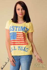 CM0100 Koszulka bluzka nietoperz flaga USA - żółta - 2832069600