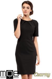 CM0219 Klasyczna elegancka sukienka ołówkowa - czarna - 2832069606