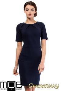 7f137a6536 CM0219 Klasyczna elegancka sukienka ołówkowa - granatowa - 2832069607